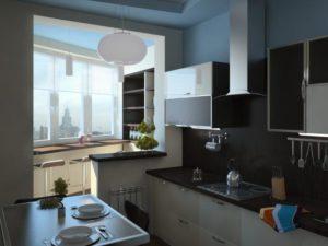Кухня на балконе вариант отделки