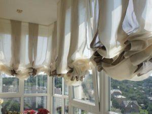 Большие шторы на балкон