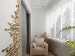 вариант отделка балкона