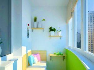 Маленькие балконы с отделкой