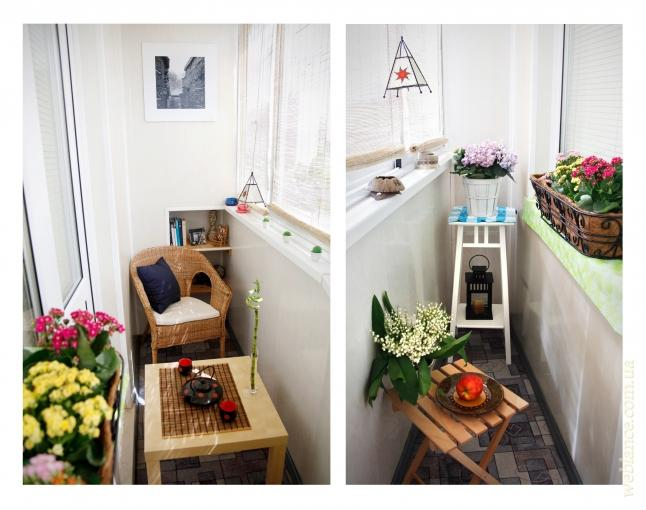 Маленький и уютный балкон