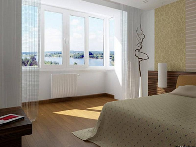 лоджия в спальню дизайн вариант