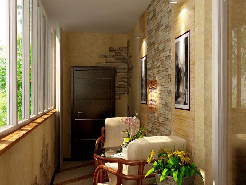 дизайн вариант лоджии и балкона