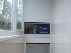 балкон со шкафом пвх