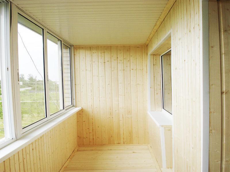 деревянный балкон и лоджия