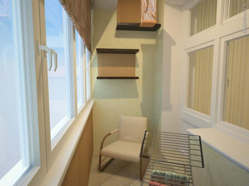 вариант отделки балкона 1