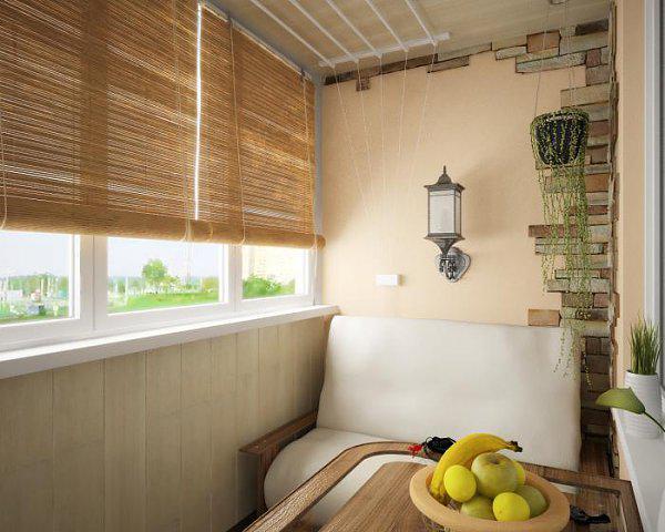 Красивый вариант как утеплить балкон