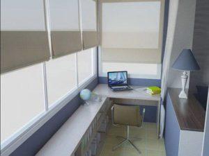 вариант рабочего места для балкона