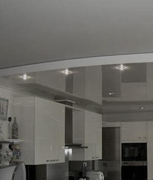 Потолки на кухню фото 10
