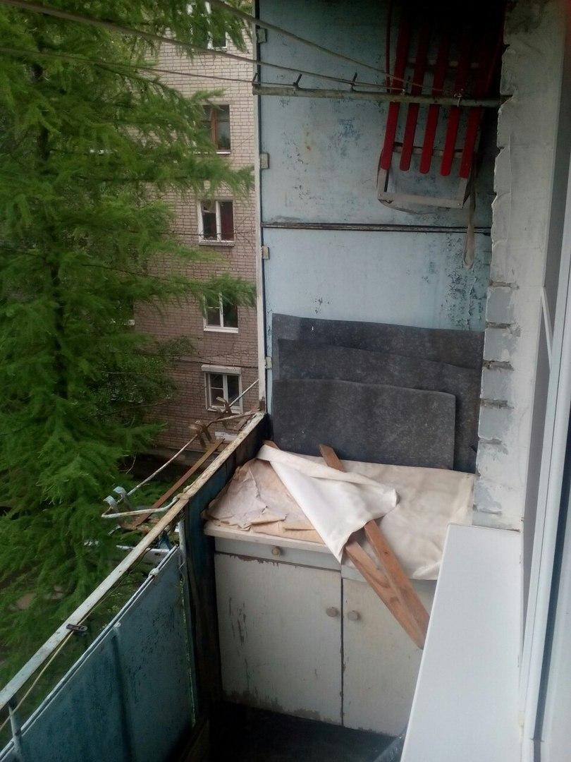 старый балкон на новый