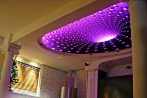 Потолок с подсветкой и двух уровневый