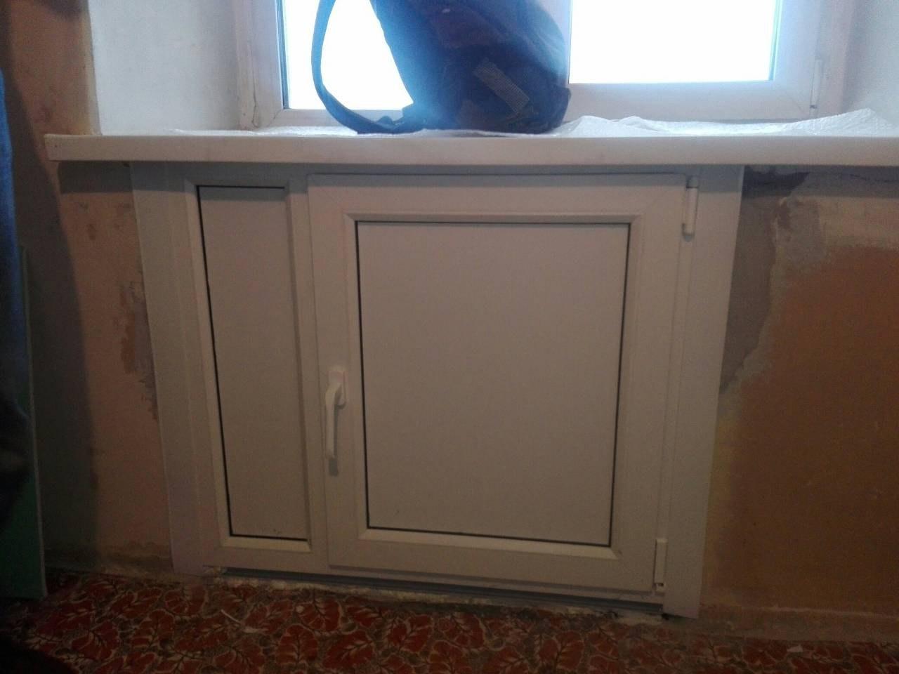 Установка подоконного холодильника пвх