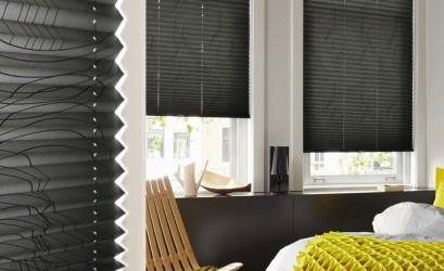 черные шторы плиссе