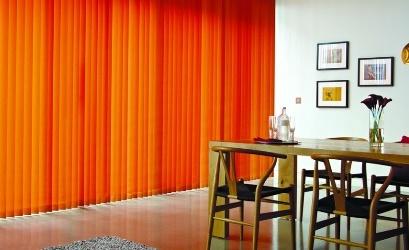 оранжевые вертикальные жалюзи
