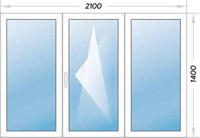 Окно 3 створки