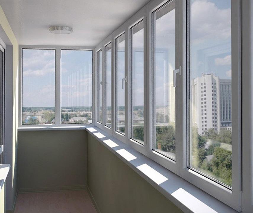 Остекление балкона и лоджии профилем ПВХ